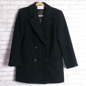 Charles Klein Black Wool Pea Coat Size 6